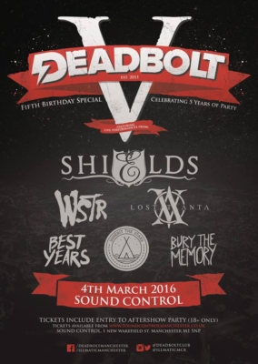 DBV Deadbolt 5th Birthday ft Shields, WSTR, Lost Atlanta, Best Years, Inherit the Stars, Bury the Memory - Red Cardinal Music