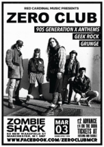 ZERO CLUB MANCHESTER -GRUNGE 90S ALTERNATIVE GEEK ROCK - Red Cardinal Music