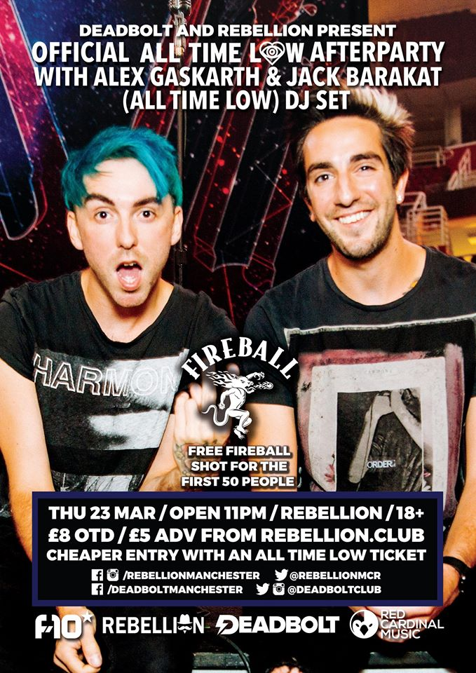 All Time Low Official Afterparty Manchester Deadbolt