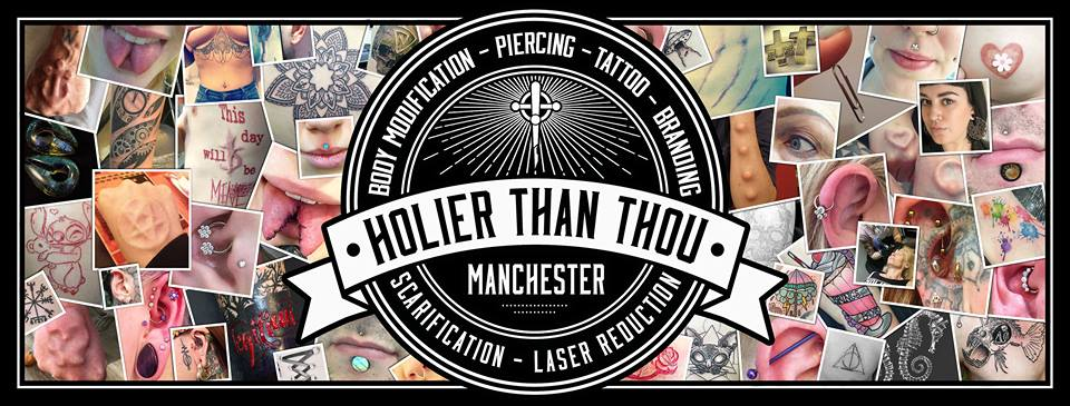Holier Than Thou Manchester - Tattoos and Piercings - Red Cardinal Music