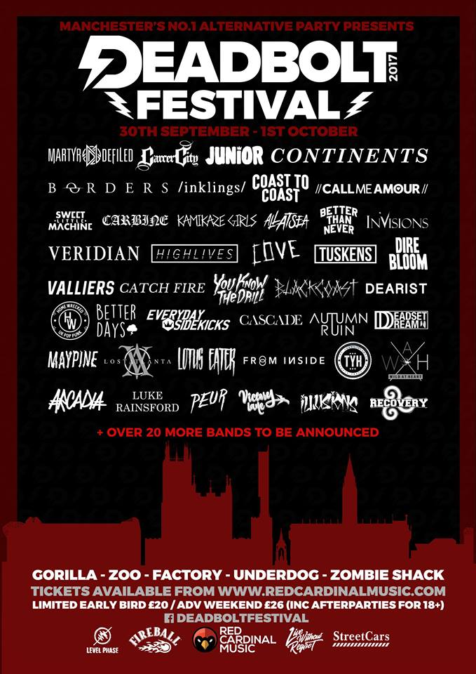 Deadbolt Festival announces second wave of bands - Red Cardinal Music - Manchester