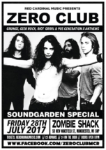 Zero Club Soundgarden Special Red Cardinal Music Zombie Shack