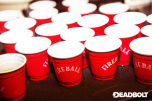 Fireball Whisky Shots - Deadbolt Manchester - Red Cardinal Music