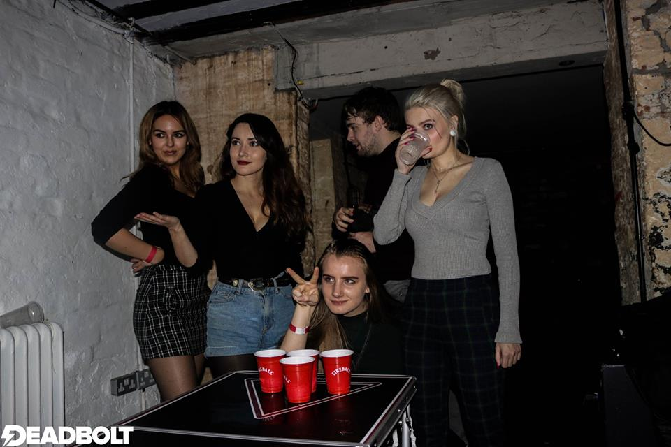 Deadbolt Liverpool - Fall Out Boy Vs Paramore - Beer Pong Photo - Red Cardinal Music