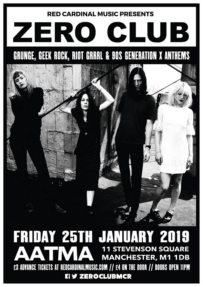 Zero Club - Aatma Manchester - Jan 19 - Red Cardinal Music