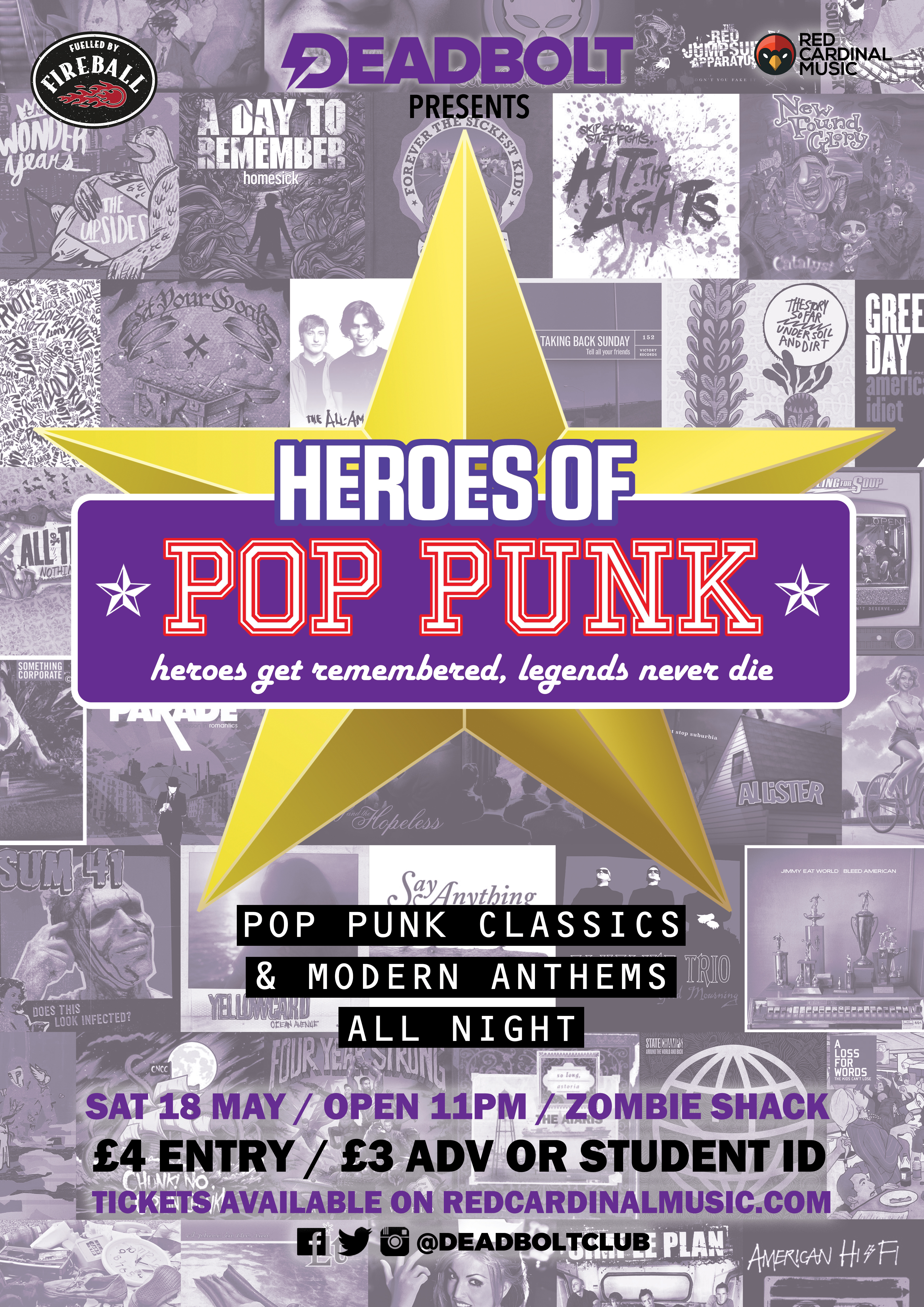 Deadbolt Heroes of Pop Punk May 19 - Red Cardinal Music
