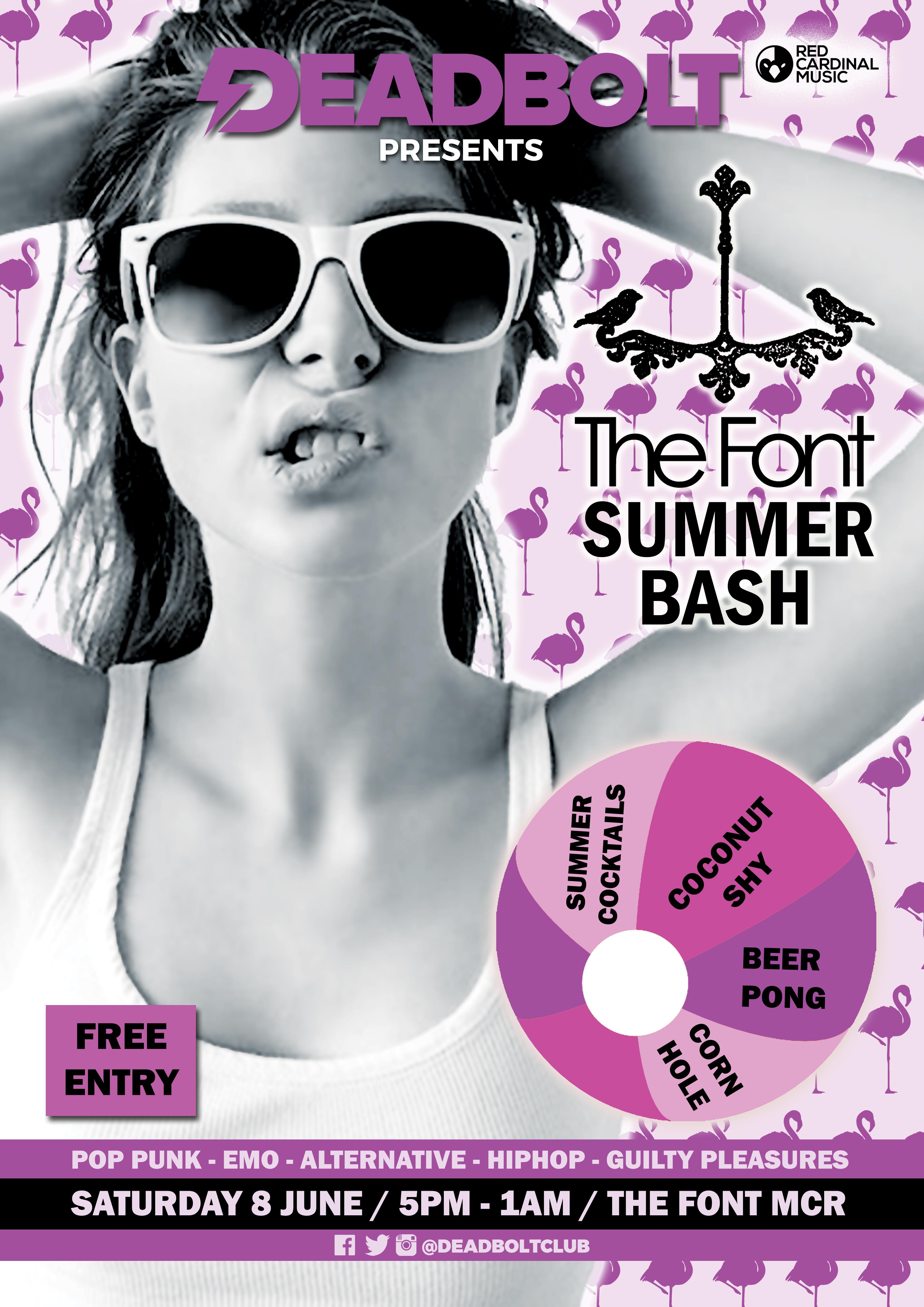 Deadbolt Manchester - Summer Party - Font - 08 June - RGB For Web