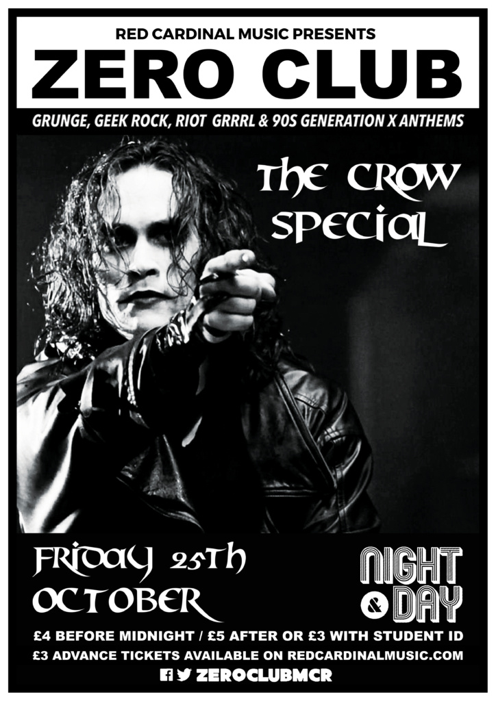 Zero Club - The Crow Special - Night & Day Manchester - Oct 19 - Red Cardinal Music