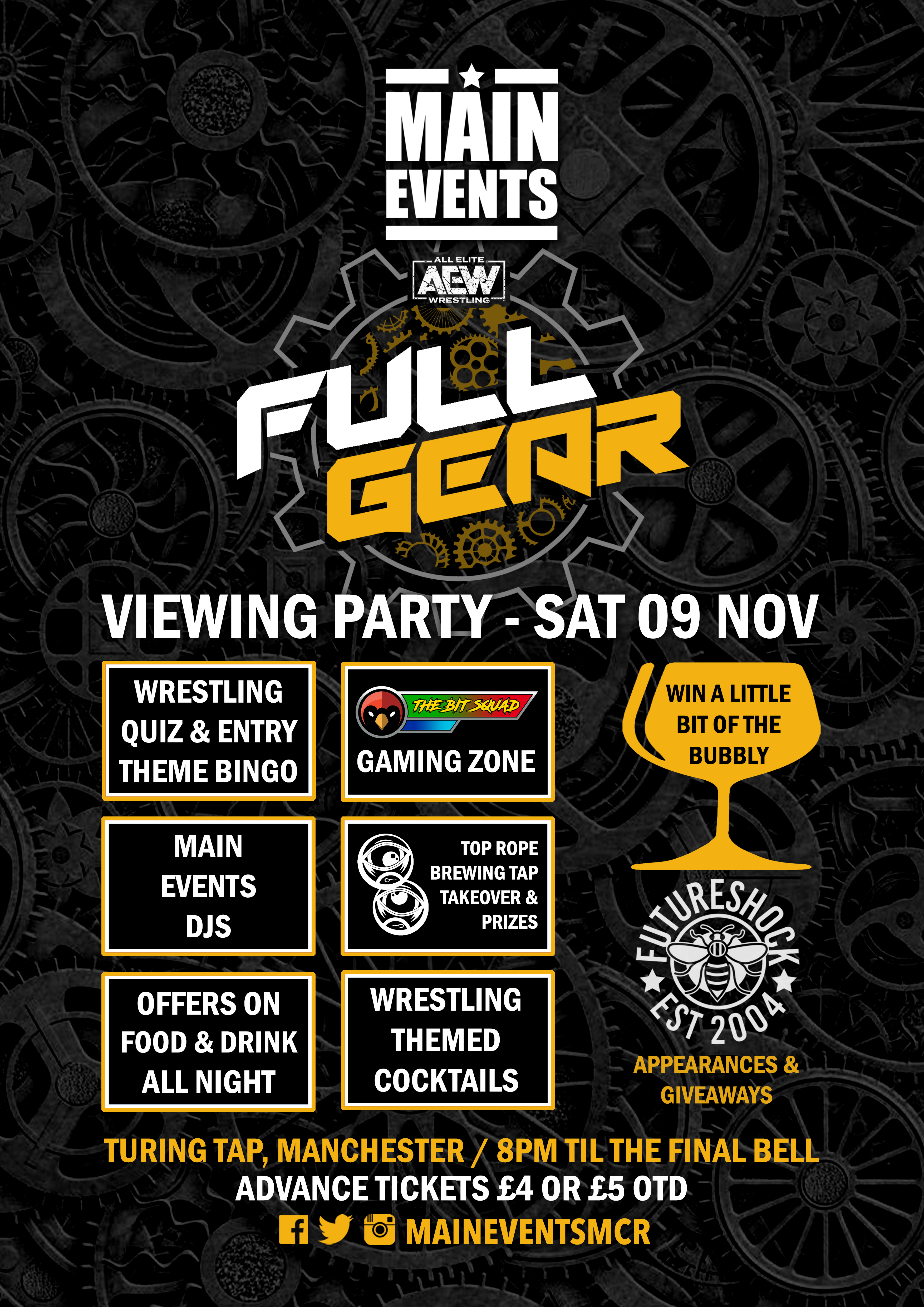 Main Events - AEW Full Gear Viewing Party 2019 - Poster