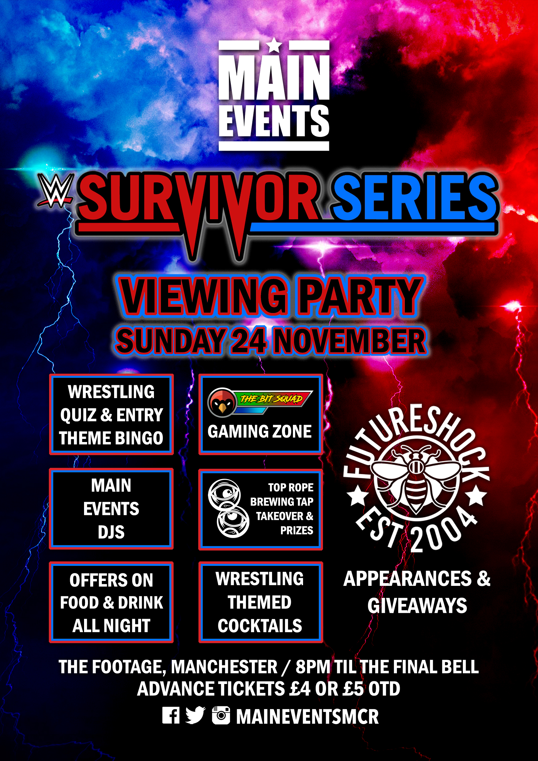 Main Events - Survivor Series 2019 Viewing Party Manchester - Footage Manchester